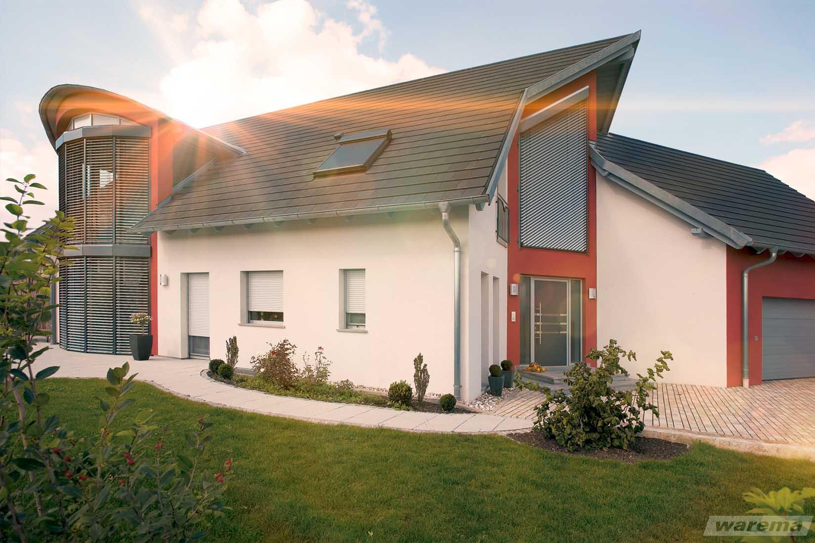 Fassadenelemente und Sonnenschutz-Systeme