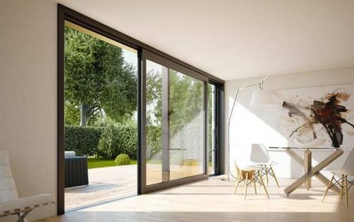 Barrierefreie Schiebetür – Wohnhaus