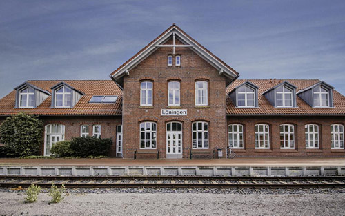 Holzfenster, Denkmalschutz – Bahnhof Löningen