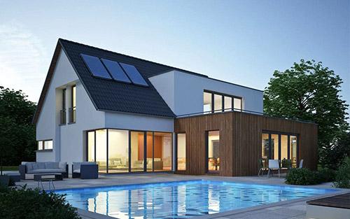 Fassadenelemente aus Holz – Wohnhaus