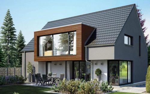 Moderne Fassadengestaltung – Wohnhaus